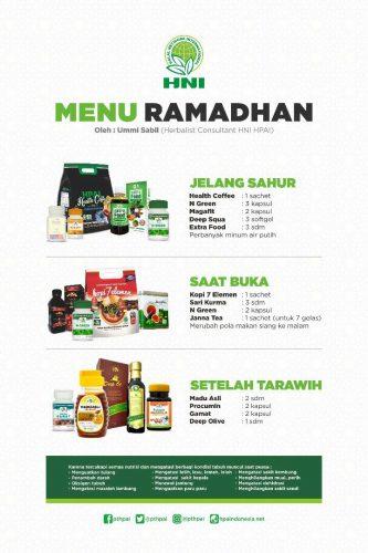Menu Ramadhan Produk HNI HPAI