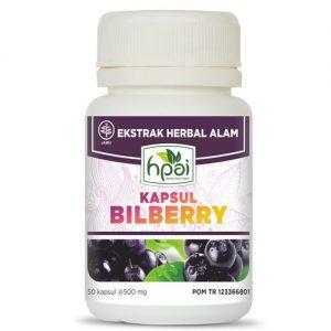 Bilberry HNI HPAI Kapsul Herbal Kesehatan Mata